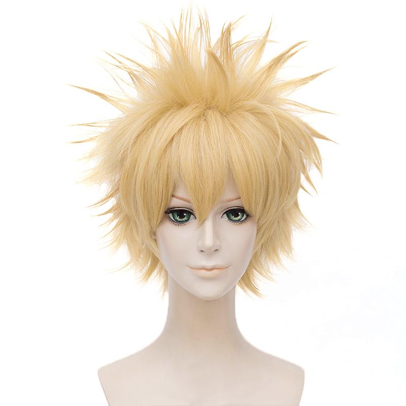 My Boku no Hero Academia Bakugou Katsuki blonde Cosplay Wig Need styled