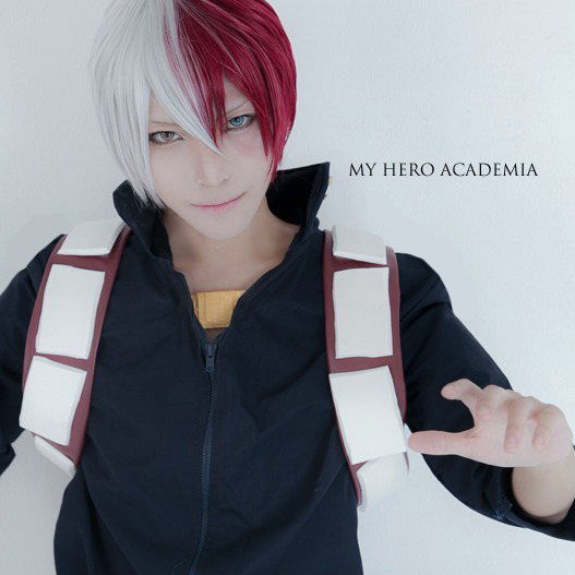 My Hero Academia Boku No Hiro Akademia Shoto Todoroki Shouto Short Sliver White Red Cosplay Wigs Halloween Costume Heat Resistant Party Wig